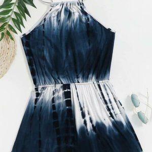 Blue/White Tie Dye Romper in S, M, L